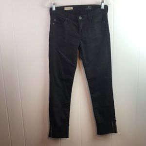 AG | Size 25. The Stevie Cuff Black Jean